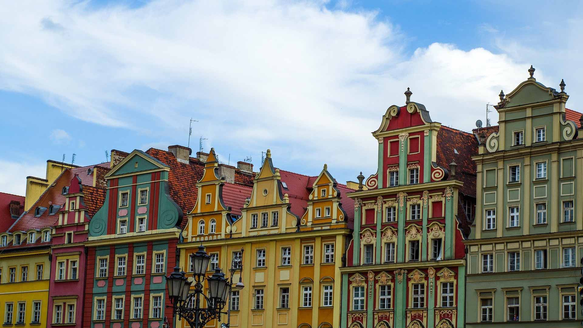 Kolorowe kamienice Wrocław